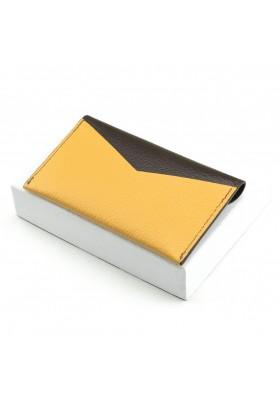 Porte-cartes Enveloppe Chocolat/Safran