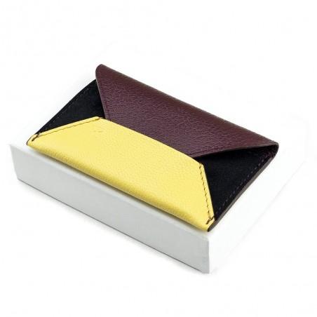 Porte-cartes Enveloppe Bordeaux/Vanille
