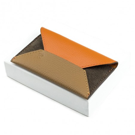 Porte-cartes Enveloppe Orange/Gold