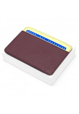 Porte-cartes Galant - Bordeaux/Vanille