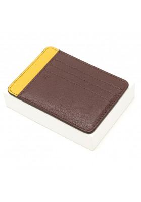 Porte-cartes Galant - Chocolat/Safran
